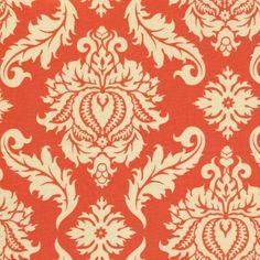 Joel Dewberry Fabric AVIARY2 for Free Spirit - Damask in Saffron  JD43 - 1 Yard Cut - Modern Designer Fabric - Orange. $9.25, via Etsy.