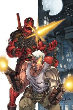 Deadpool and Cable by Mark Brooks *