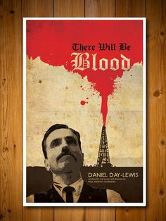 There Will Be Blood Movie Poster by posterexplosion on Etsy, $18.00