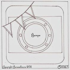 Claralesfleurs - Sketch de carte CD027