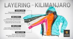 how to layer on kilimanjaro