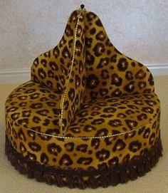 Leopard print circular sofa