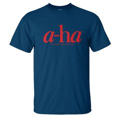 AHA - HUNTING HIGH AND LOW • Code: AHAHHL • Print on Navy blue Gildan ultra cotton (S. M. L. XL.) • Price IDR 150.000,-