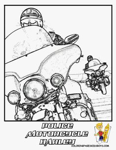 harley davidson police motorcycle coloring page this is really super