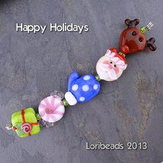 Loribeads Holiday Beads handmade glass lampwork