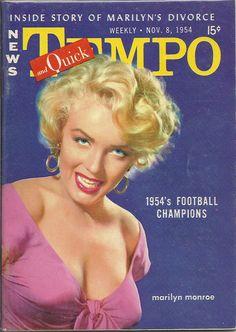 NOV 8 1954 TEMPO MAGAZINE VOL.3 #19 (Marilyn Monroe)