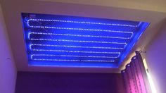 Montaż taśm LED RGB pod sufit napinany. Oświetlenie LED sufitu .
