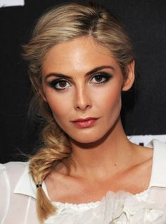 Add this to your list of must-try hairstyles: the fluffy fishtail braid (Courtesy of Tamsin Egerton)