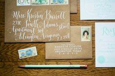 Blue Eye Brown Eye Calligraphy | via PLY: The Ultimate Paper Blog