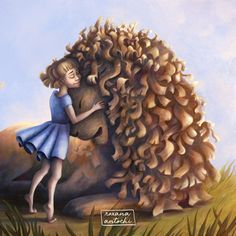 Lucy Pevensie and Aslan from The Lion, the Witch and the Wardrobe. Lucy Pevensie, Children's Book Illustration, Narnia, Childrens Books, Witch, Lion, Cover, Children's Books, Leo