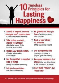 10 Timeless Principles For Lasting Happiness happy happiness positive emotions mental health confidence self love self improvement self care affirmations self help emotional health daily affirmations