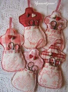 Sewing ... lots of ideas pinner suggested shape of nail polish bottle & insert file, clippers ...