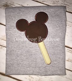 Mickey Mouse ice cream bar shirt by DoodlebugBoutique4u on Etsy https://www.etsy.com/listing/271446774/mickey-mouse-ice-cream-bar-shirt