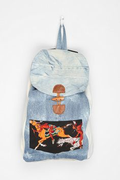 SNAP x Urban Renewal Patchwork Backpack  #UrbanOutfitters