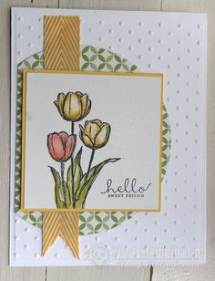 Stampin Up Blessed Easter stamp set Occasions catalog. card by Sandi MacIver