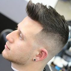 High Bald Fade with Quiff and Brush Up