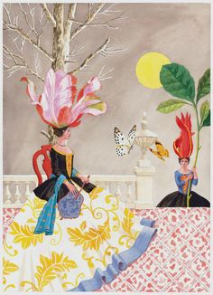 Harrison Howard, Flower and Shell People: On the Terrace