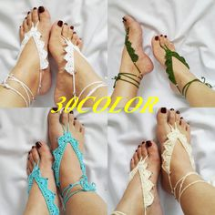 Barefoot sandals  choose your colour barefoot by ArtofAccessory