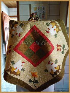 Toalha de galinhas by Artes da Zecota, via Flickr