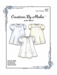 This sweet baby dress is the perfect introduction to heirloom sewing! The pattern includes three design choices of lace insertion...