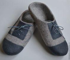 Купить тапочки -шлепки для мужчин - Мокрое валяние, Валяние, валяные тапочки, тапочки домашние