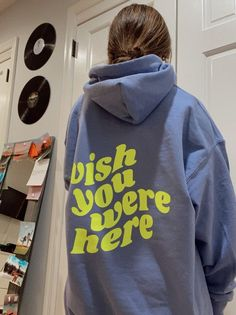 Teen Fashion Outfits, Cool Outfits, Aesthetic Hoodie, Stylish Hoodies, Vintage Crewneck, Wish You Are Here, Tumblr, Unisex, Trending Outfits