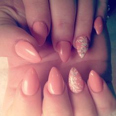 Stiletto and flower nail art