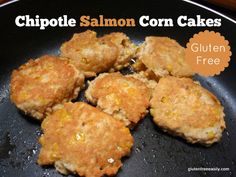 Chipotle Salmon Corn Cakes are every bit as good as they sound! Quick, easy, and delicious. [From GlutenFreeEasily.com] via @shirleygfe