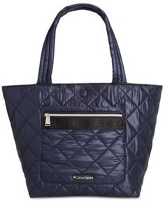 Calvin Klein Cire Nylon Quilted Reversible Large Tote | macys.com