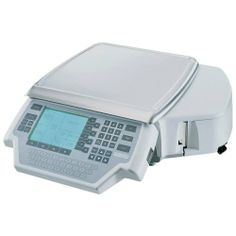 """Hobart Quantum Service Scale / Printer by Hobart. $3157.00. Hobart Quantum Service Scale / PrinterThis scale has wireless capabilities so it can be placed anywhere in the work place.Model #: QUANTM1-1 32 flashkeys NSF approved UL listed Large label roll capacity Volts: 120 Platter width: 14"""" Platter depth: 15"""" 2.5 MB RAM memory Weight: 33-1/2"""" 146665"""