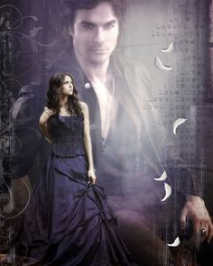 Delena love. My digital art. TVD.