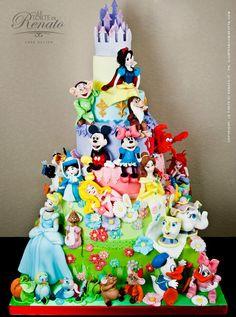 Disney birthday cake from cake boss Pretty Cakes, Cute Cakes, Beautiful Cakes, Amazing Cakes, Amazing Birthday Cakes, Crazy Cakes, Fancy Cakes, Unique Cakes, Creative Cakes