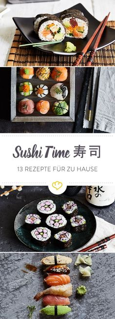 Make sushi yourself: all recipes for maki, nigiri and Co.- Sushi selber machen: Alle Rezepte für Maki, Nigiri und Co. Everyone is talking about sushi. The small rice particles are … - Sushi Recipes, Asian Recipes, Healthy Recipes, Sushi Co, Oyster Recipes, Homemade Sushi, Desserts Homemade, Sushi Time, How To Make Sushi