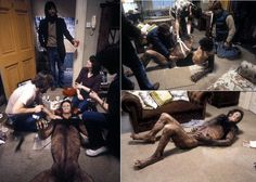 Behind the scenes of An American Werewolf in London's amazing transformation effects by Rick Baker.