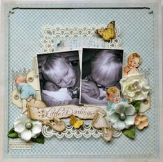 Little Darlings layout by Karen Shady #graphic45 #layouts #scrapbooking