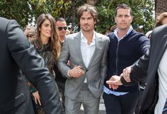 Ian Somerhalder walks along the Croisette Boulevard during Cannes Film Festival with Nikki Reed - May 21, 2015