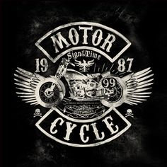 Seriously cool old school motorcycle logos.
