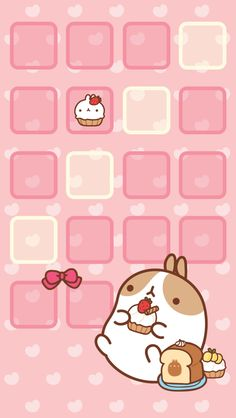 Molang Cupcake Home Screen