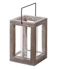 make it! Look at this #zulilyfind! Weathered Garden Wooden Lantern #zulilyfinds