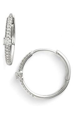 Bony Levy Diamond Small Hoop Earrings (Limited Edition) (Nordstrom Online Exclusive) available at #Nordstrom