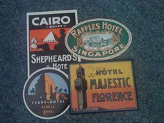 sticker chic - love the style of the Grand Hotel