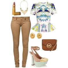 A fashion look from January 2015 featuring Mary Katrantzou tops, Monkee Genes jeans and Yves Saint Laurent pumps. Browse and shop related looks.