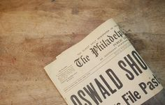 Three Vintage 1960s Newspapers  JFK Shot  by hodgepodgehobbyshop