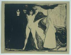 Woman in Three Stages - Edvard Munch, lithograph Edvard Munch, Jackson Pollock, Klimt, Kandinsky, Figurative Art, Oeuvre D'art, Art History, Printmaking, Modern Art