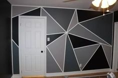 For a feature wall, Shay wanted something geometric. I did some research and ended up coming up with a triangle design for his geometric feature wall. How to Paint a Feature Wall: Prep your walls (…