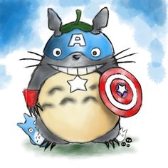 Captain totoro by Veebster using Adonit Jot Touch on the iPad.