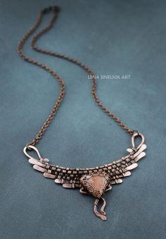 Wirewrapped Gemstone pendant Wire wrap by LenaSinelnikArt on Etsy