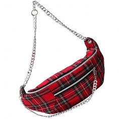 Maxi Riñonera Tartan rojo Rebecca Minkoff, Madrid, Bags, Fashion, Handmade Handbags, Red, Fur, Handbags, Moda