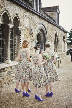 English country garden floral bridesmaid dresses
