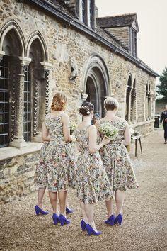 English country garden floral bridesmaid dresses